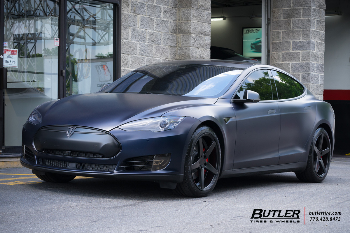 Tesla Model S with 20in TSW Sochi Wheels