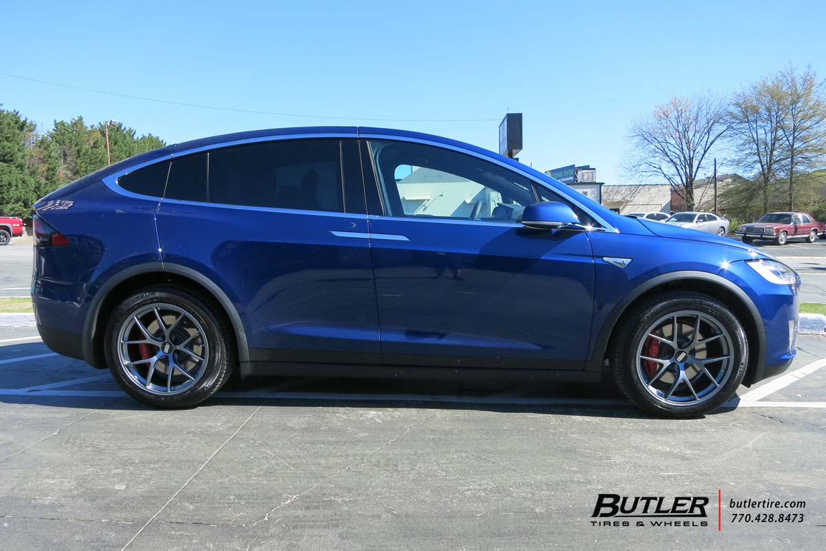 Tesla Model X With 20in Bbs Fi Wheels Exclusively From