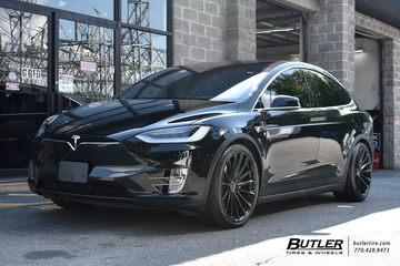 Tesla Model X with 22in Ohm Pronton Wheels