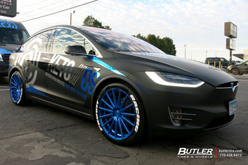 Tesla Model X with 22in Vossen VFS2 Wheels