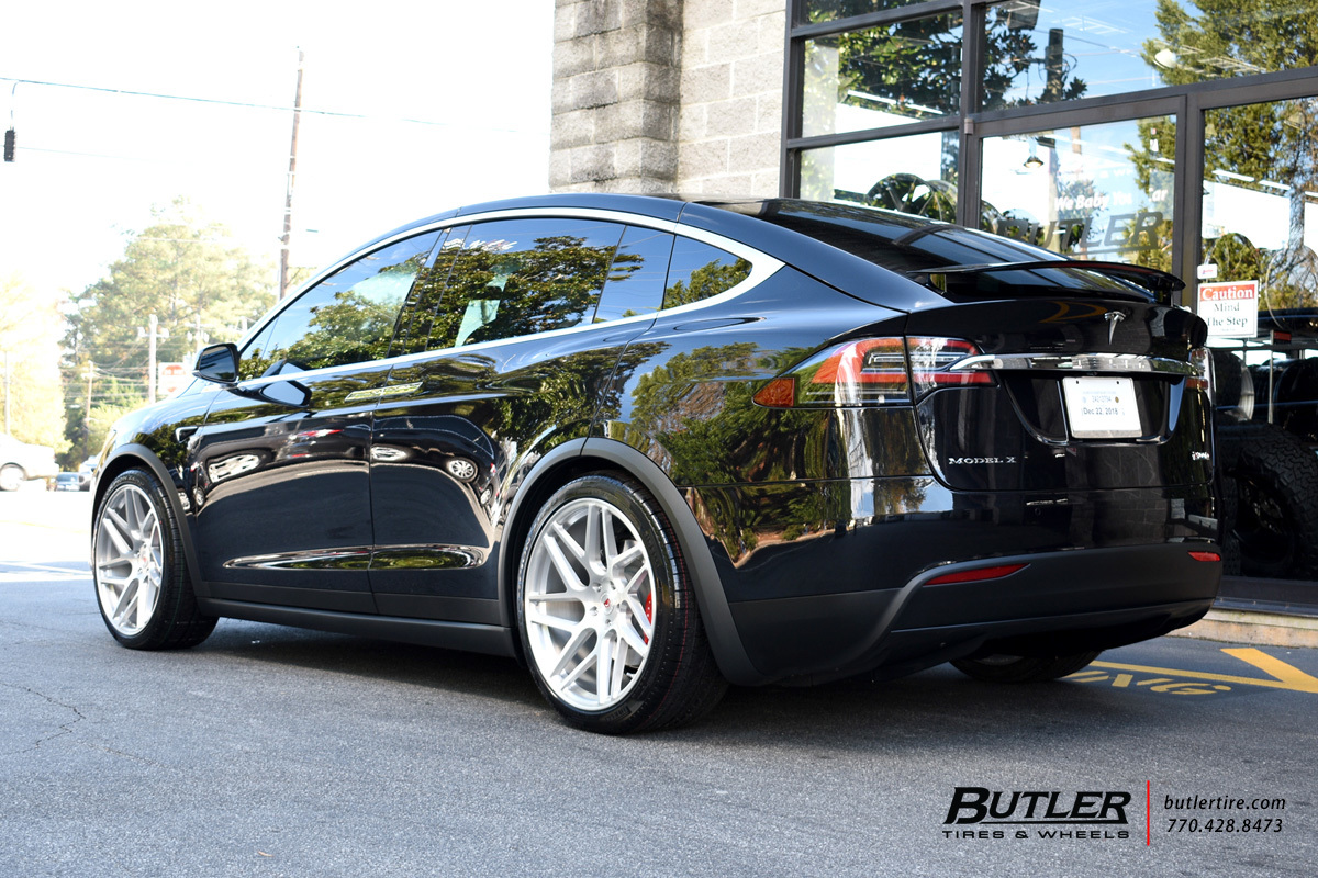 Tesla Model X with 22in Vossen VPS-315T Wheels