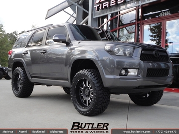 Toyota 4Runner with 20in Black Rhino Armour Wheels