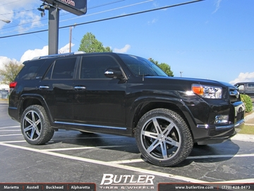 Toyota 4Runner with 22in Black Rhino Peak Wheels