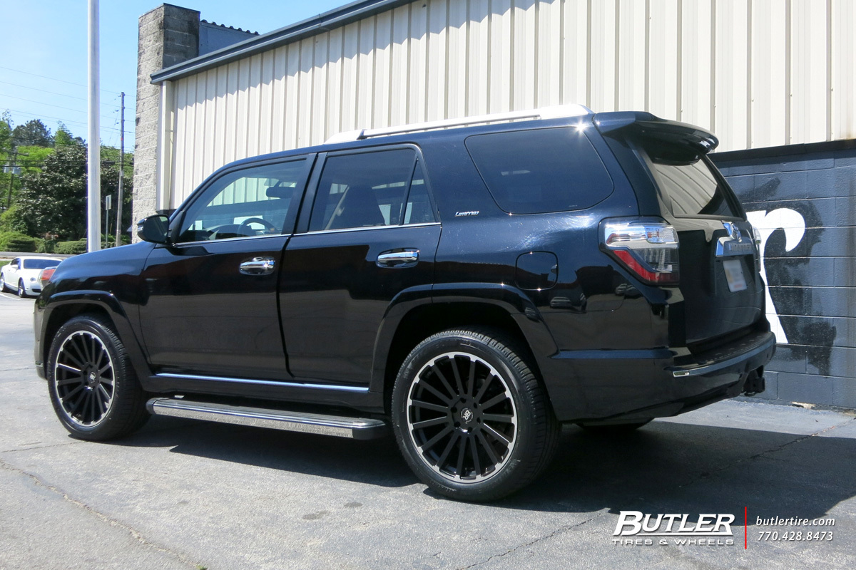 Toyota 4Runner with 22in Black Rhino Spear Wheels