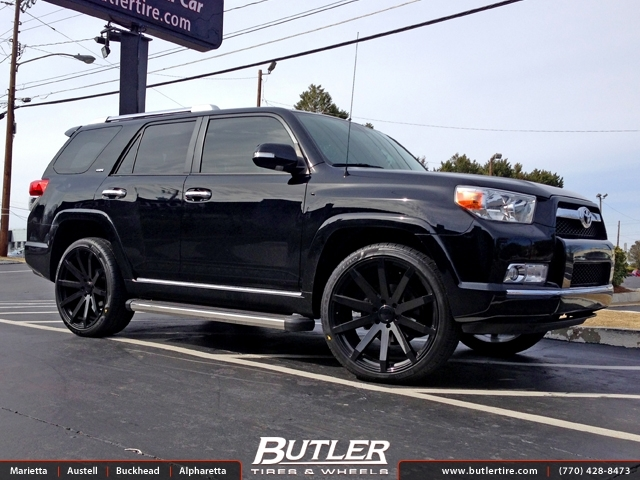 toyota 4runner with 24in black rhino traverse wheels. Black Bedroom Furniture Sets. Home Design Ideas