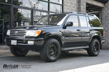 Toyota Land Cruiser with 18in Black Rhino Grange Wheels
