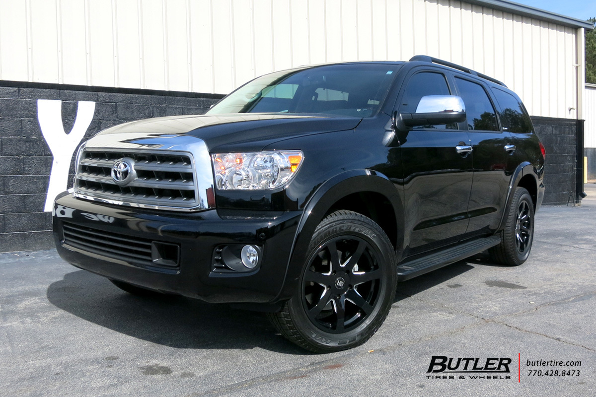 Toyota Sequoia with 20in Black Rhino Mozambique Wheels