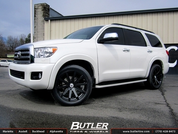 Toyota Sequoia with 22in Black Rhino Traverse Wheels