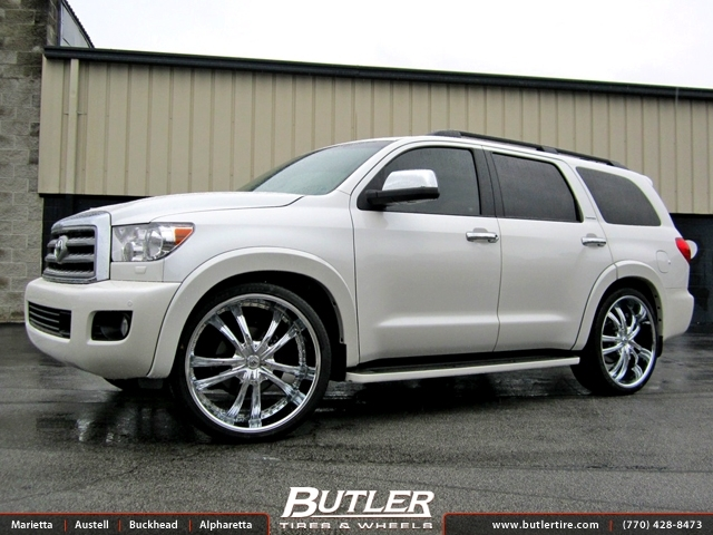 Toyota Sequoia Off Road Accessories >> Toyota Sequoia with 26in Lexani LSS55 Wheels exclusively from Butler Tires and Wheels in Atlanta ...