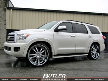 Toyota Sequoia with 26in Lexani LSS55 Wheels