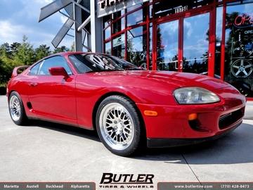 Toyota Supra with 18in CCW Classic Wheels