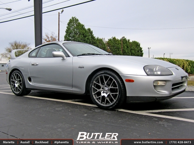 Toyota Supra with 18in TSW Nurburgring Wheels