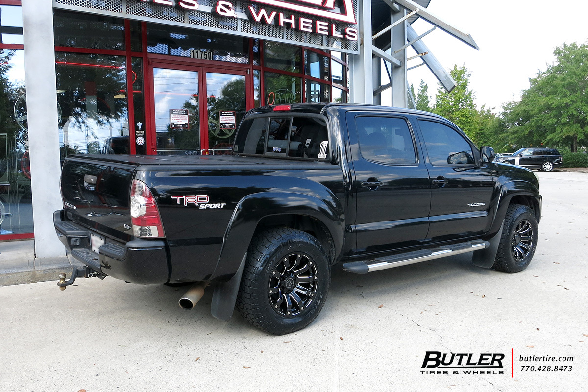 Toyota Tacoma with 17in Black Rhino Selkirk Wheels