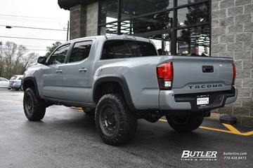 Toyota Tacoma with 18in Black Rhino Armory Wheels