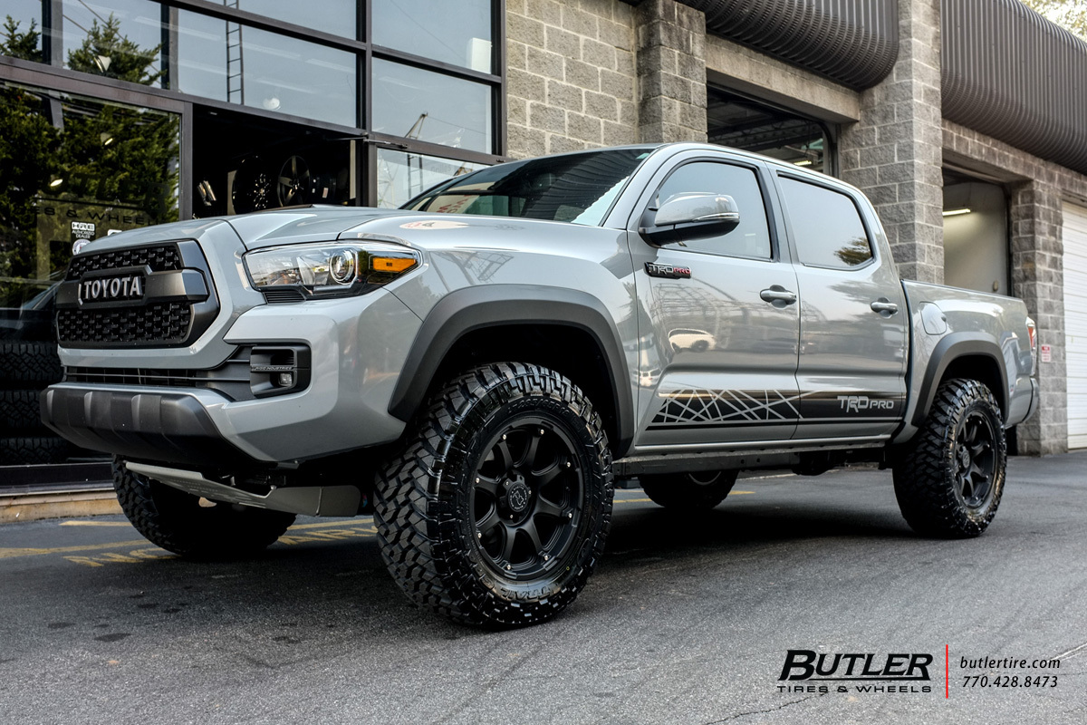toyota tacoma with 18in black rhino glamis wheels exclusively from butler tires and wheels in. Black Bedroom Furniture Sets. Home Design Ideas