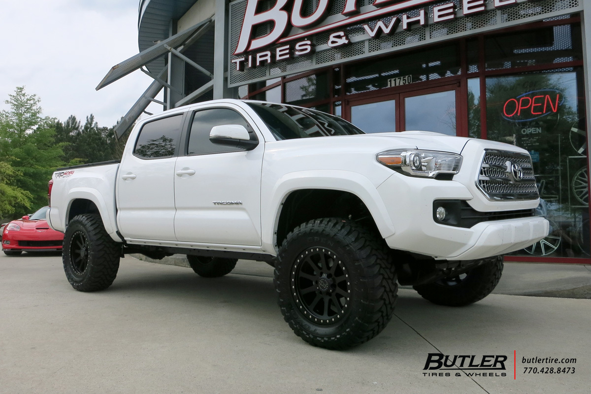 Toyota Tacoma with 18in Black Rhino Mint Wheels