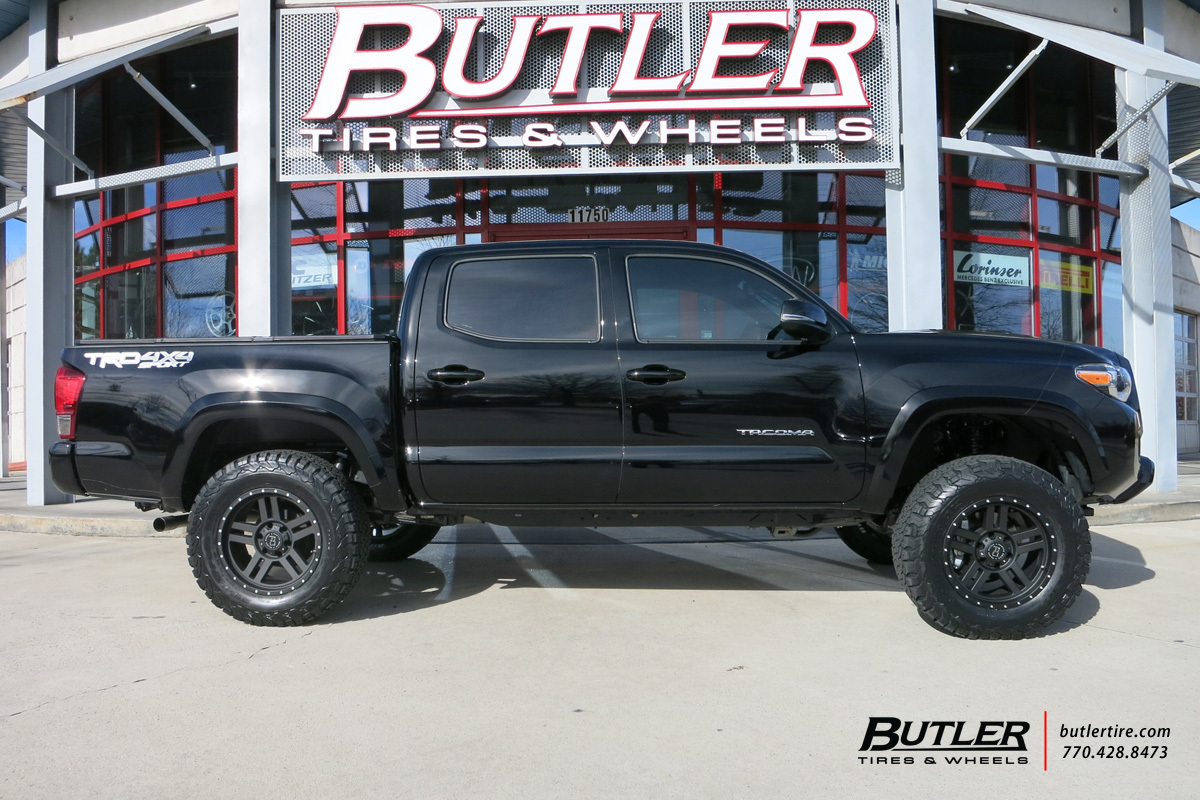 toyota tacoma with 18in black rhino mojave wheels. Black Bedroom Furniture Sets. Home Design Ideas