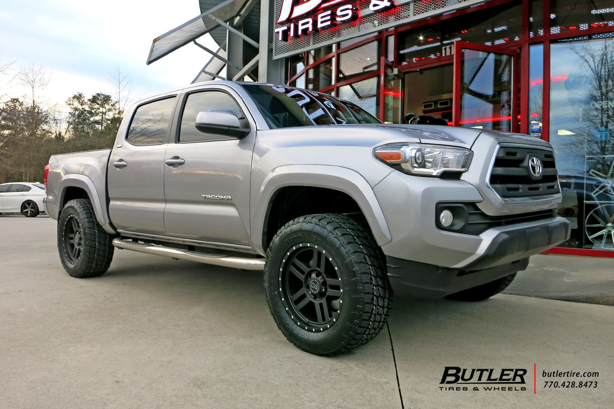 Toyota Tacoma with 18in Black Rhino Mojave Wheels