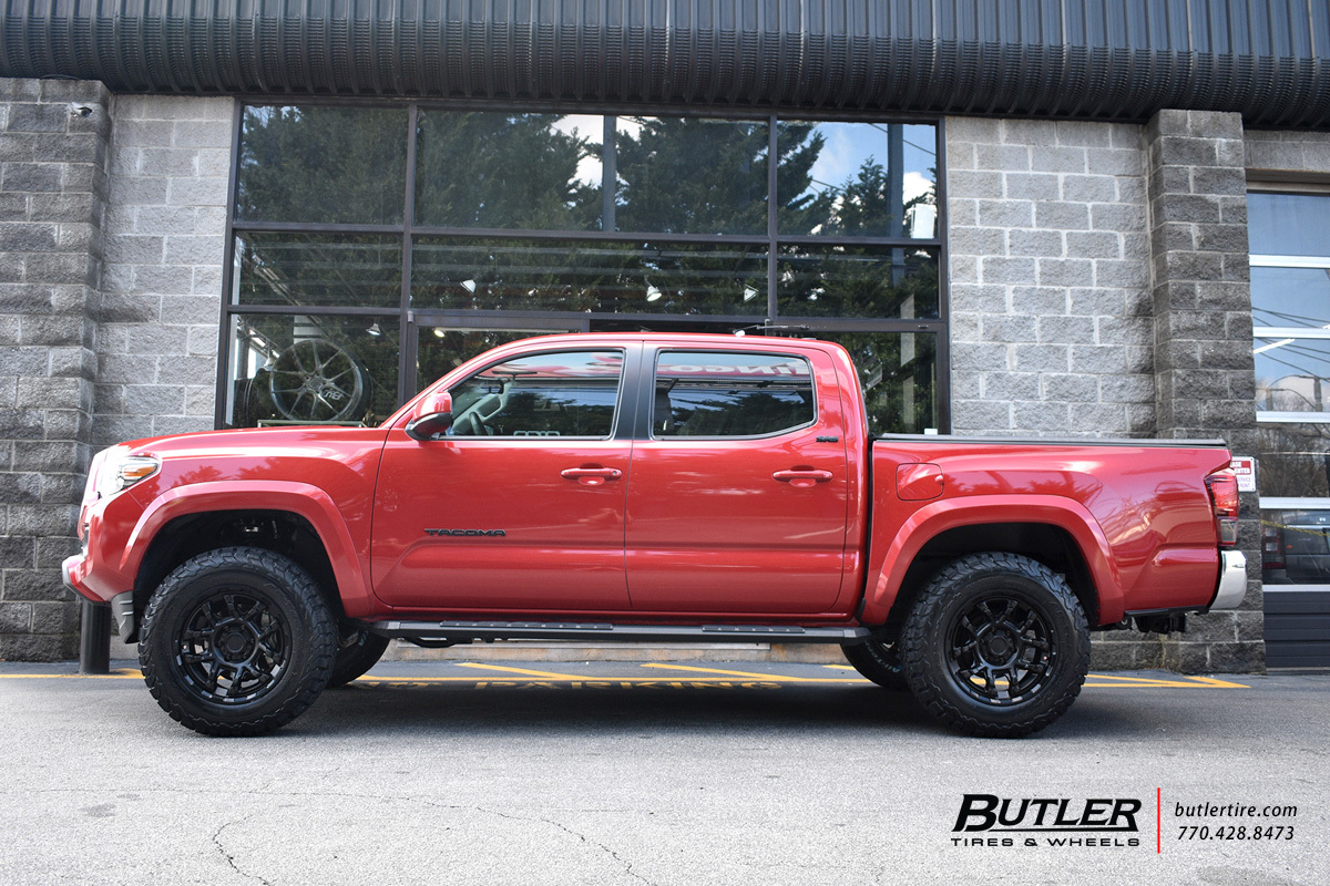 Toyota Tacoma with 18in Black Rhino Overland Wheels