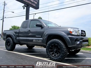 Toyota Tacoma with 18in Black Rhino Sidewinder Wheels