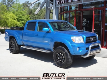 Toyota Tacoma with 18in Black Rhino Sierra Wheels