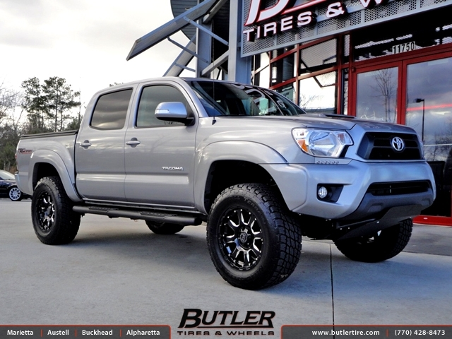 Toyota Tacoma with 18in Black Rhino Spinreel Wheels