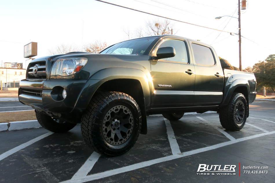 Toyota Tacoma with 18in Black Rhino Warlord Wheels ...