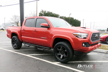 Toyota Tacoma with 20in Black Rhino Roku Wheels