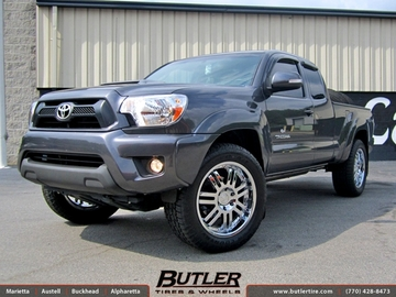 Toyota Tacoma with 20in Black Rhino Serengeti Wheels