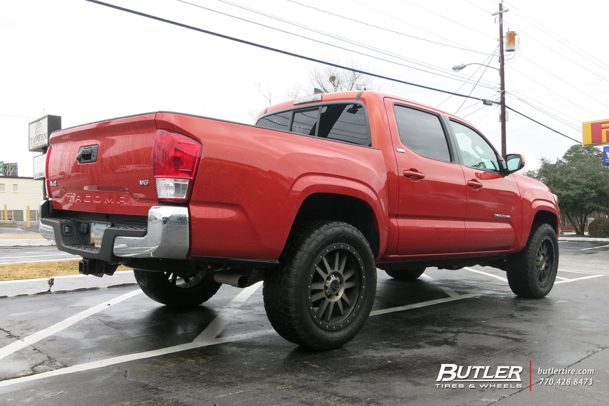 Toyota Tacoma with 20in Black Rhino Tanay Wheels