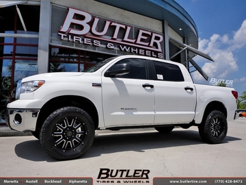 Toyota Tundra with 20in Black Rhino Armour Wheels