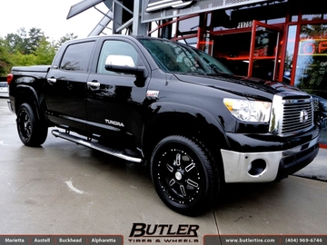 Toyota Tundra with 20in Black Rhino Borrego Wheels
