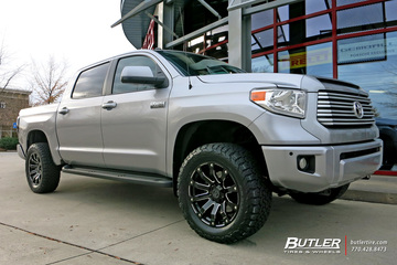 Toyota Tundra with 20in Black Rhino Selkirk Wheels