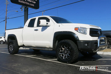 Toyota Tundra with 20in Black Rhino Shrapnel Wheels