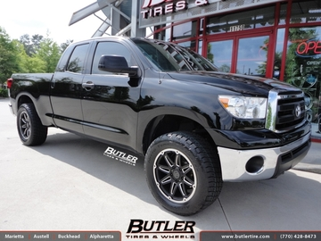 Toyota Tundra with 20in Black Rhino Slide Wheels