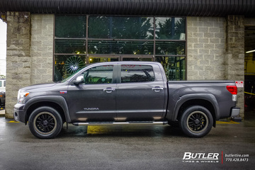Toyota Tundra with 20in Black Rhino Tanay Wheels