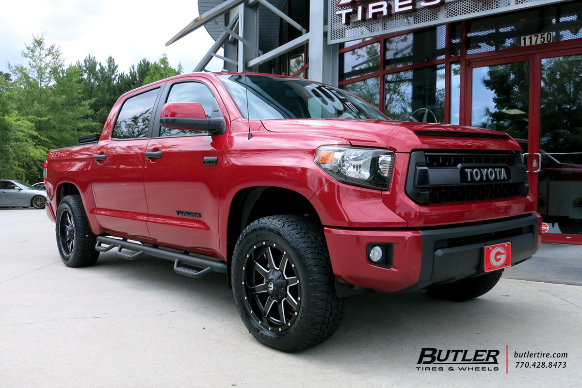 Toyota Tundra with 20in Fuel Maverick Wheels exclusively ...