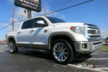 Toyota Tundra with 22in Black Rhino Traverse Wheels