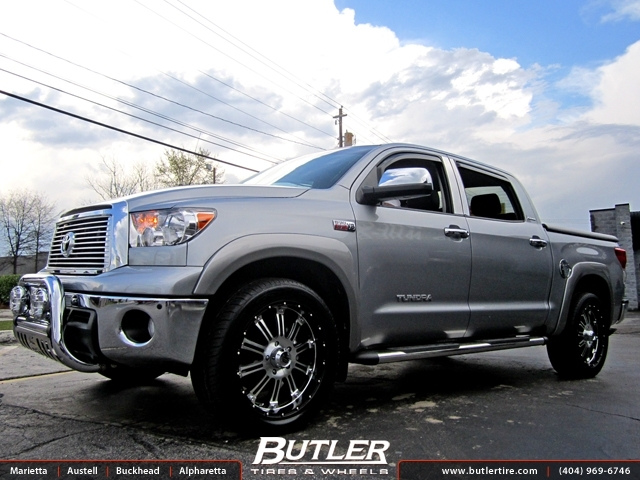 Toyota Tundra with 22in KMC Badland Wheels