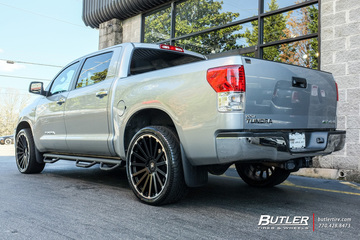 Toyota Tundra with 24in Black Rhino Spear Wheels
