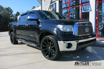 Toyota Tundra with 24in Black Rhino Traverse Wheels