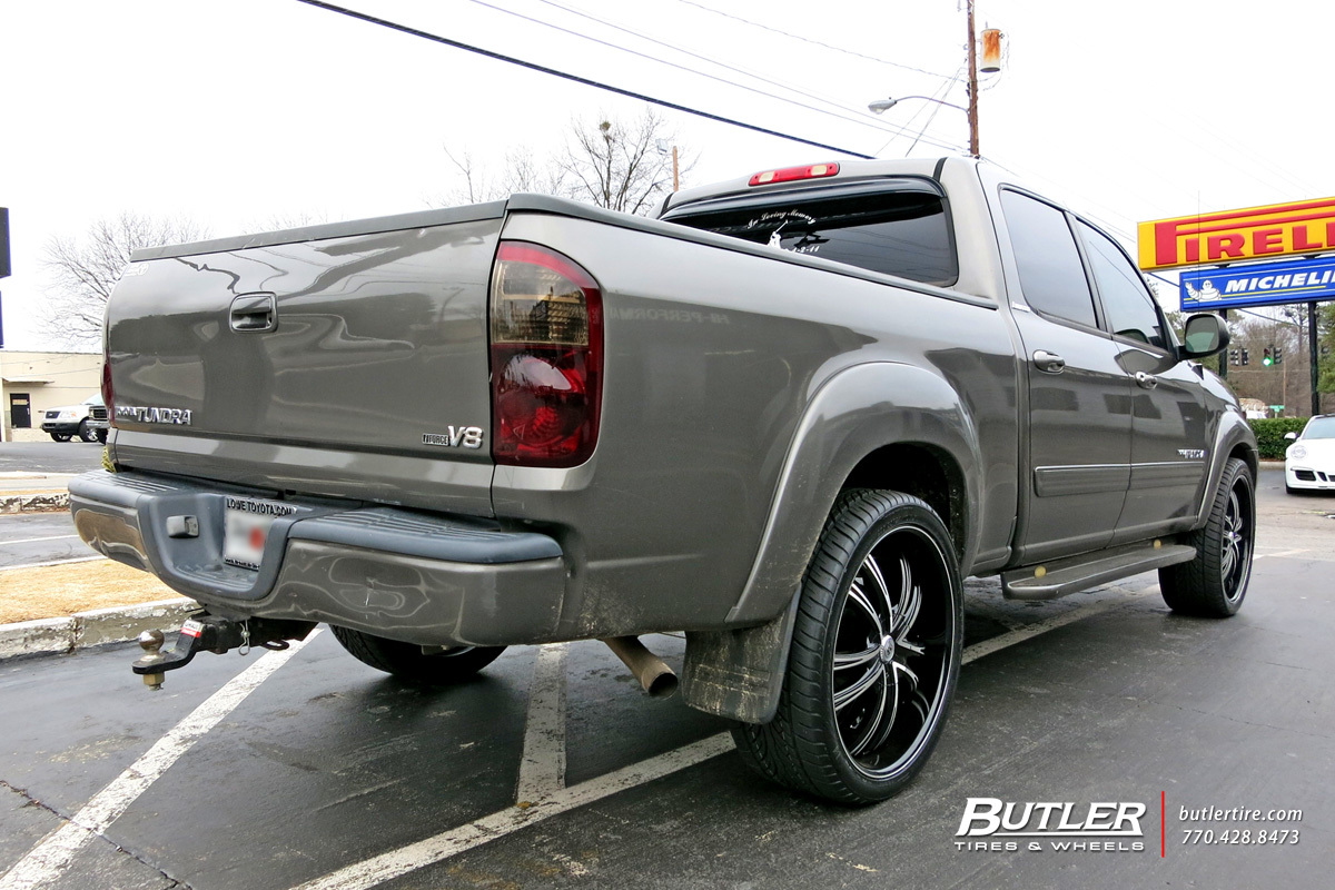 Toyota Tundra with 24in Lexani LSS55 Wheels