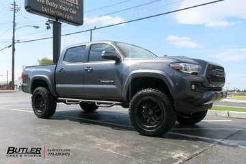 Toyota  Tacoma with 18in Black Rhino Barstow Wheels