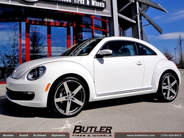 VW Beetle with 20in Mandrus Arrow Wheels