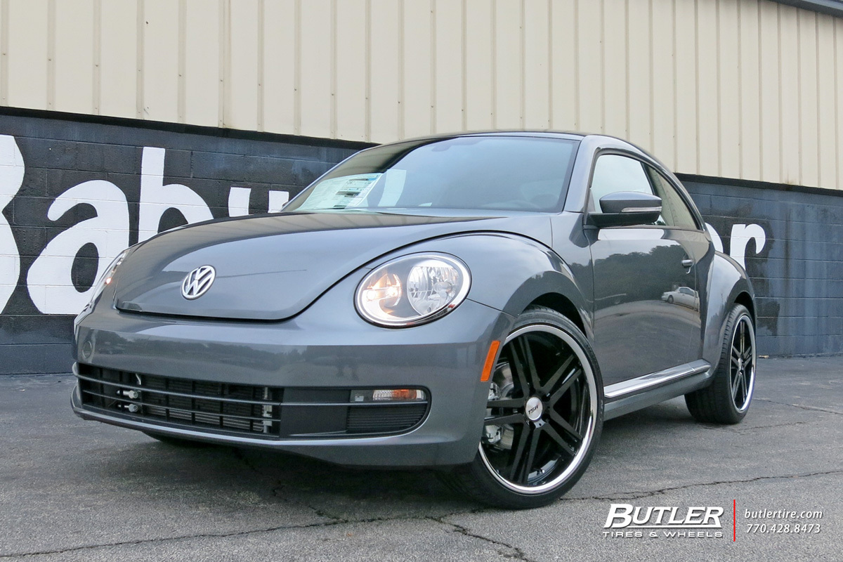 VW Beetle with 20in Mandrus Simplex Wheels