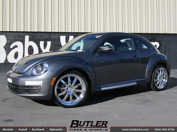 VW Beetle with 20in Mandrus Wilhelm Wheels