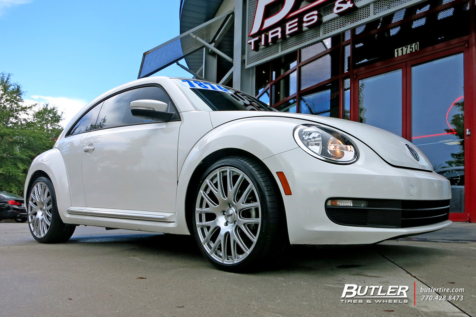 Vw Beetle With 20in Tsw Mugello Wheels Exclusively From