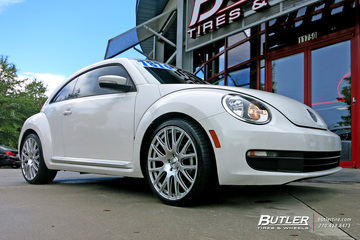 VW Beetle with 20in TSW Mugello Wheels