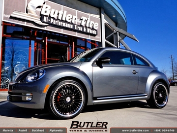 VW Beetle with 20in TSW Silverstone Wheels