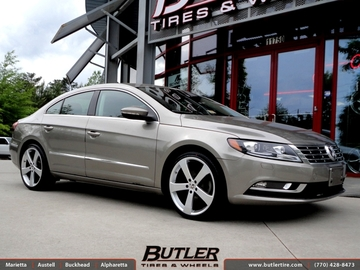 VW CC with 19in TSW Vortex Wheels